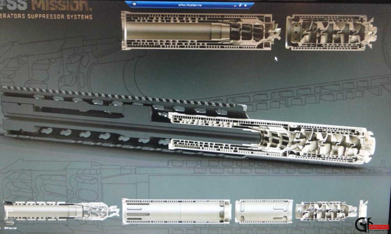 OSS flash hider muzzle brake cutaway