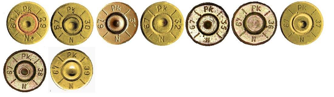 9 Маркировка на гильзах патронов 7,92х57мм Польша