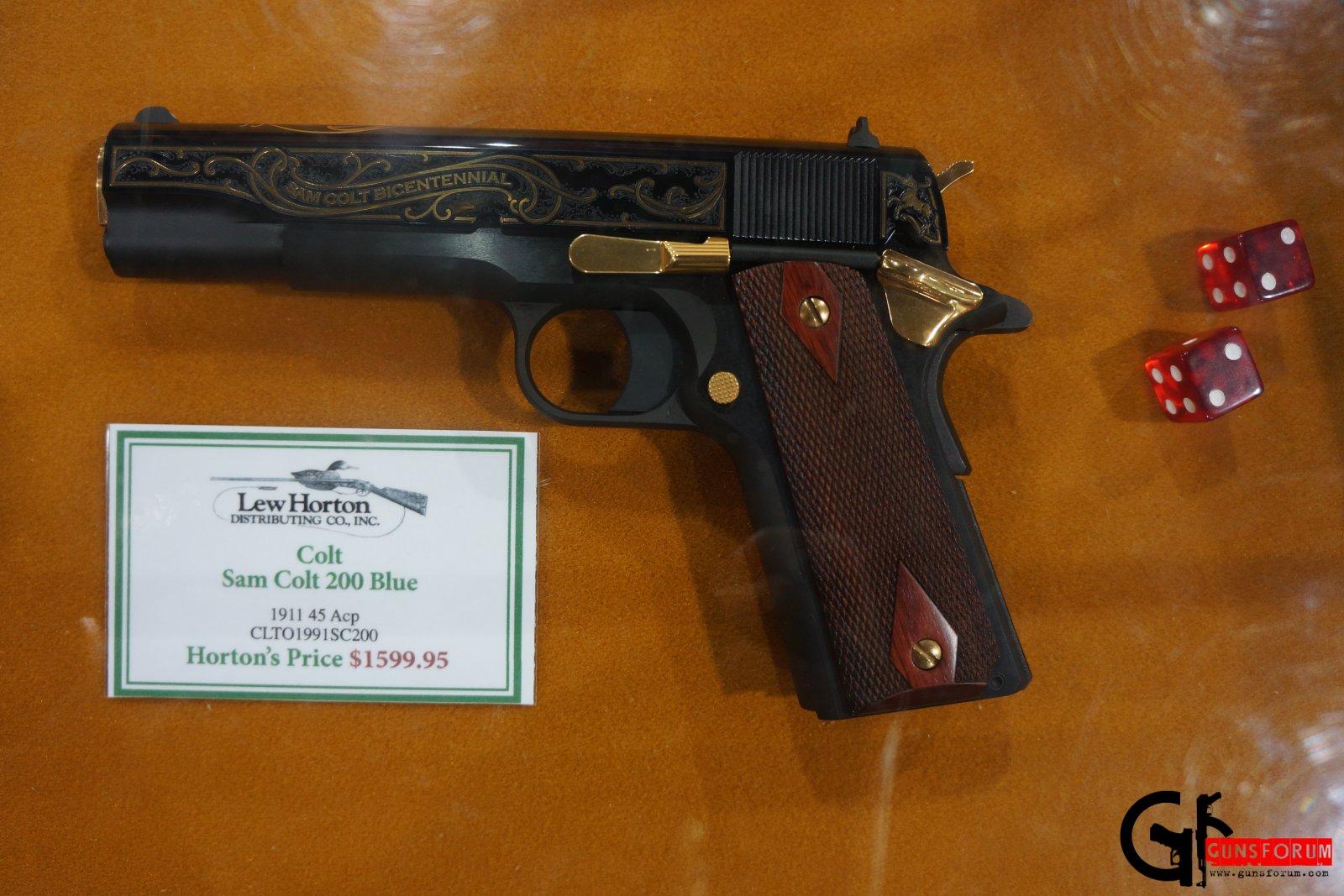 Sam Colt 200 .45 acp blue на  Shot Show 2014