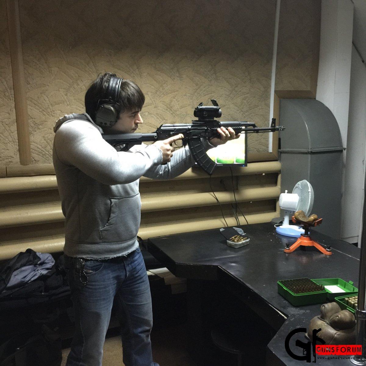 Пристрелка Вепрь КМ ВПО-136 - коллиматор на кронштейне Кочевник-2 от Армаком
