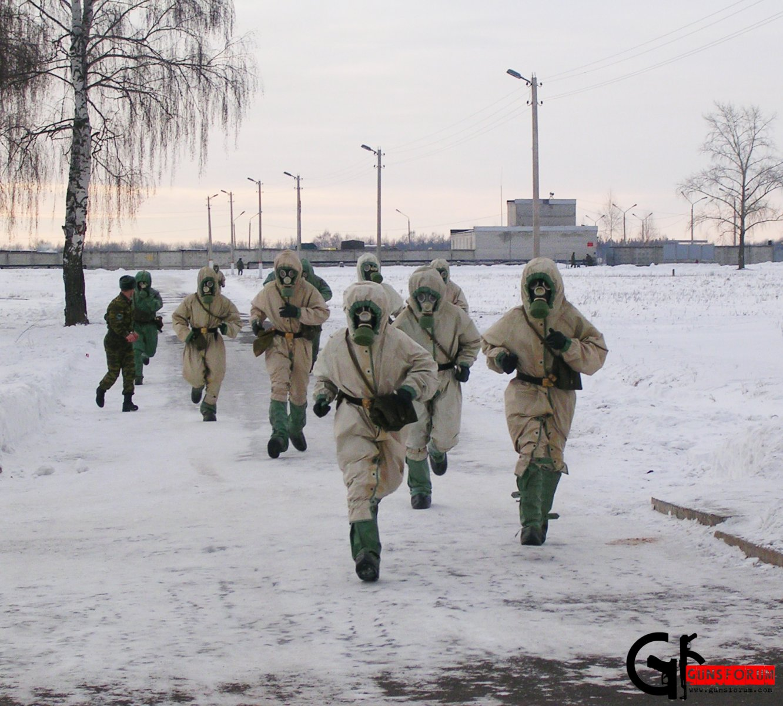 Защитный костюм ХБЗ, а заодно попутная физическая тренировка