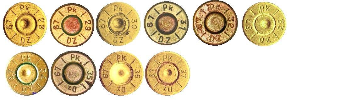 15 Маркировка на гильзах патронов 7,92х57мм Польша