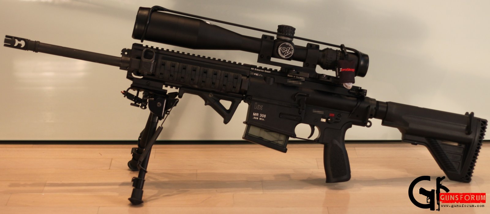 Пристрелка Heckler&Koch MR308 с Nightforce NXS 3.5-15x50