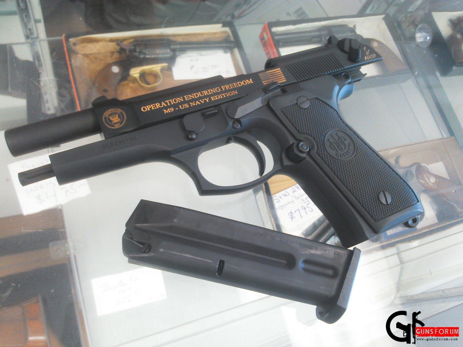Beretta 92 Operation Enduring Freedom Naval commemorative handgun
