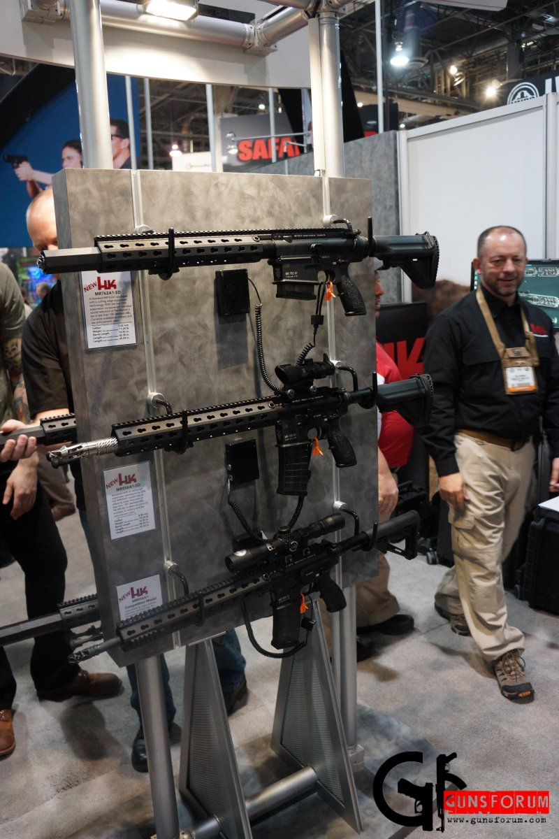 Heckler&Koch MR223 (MR556) и MR308 (MR762) на Shot Show 2014