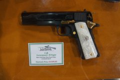 Colt 1911 Government .38 Super gold parts and pearl grips на  Shot Show 2014