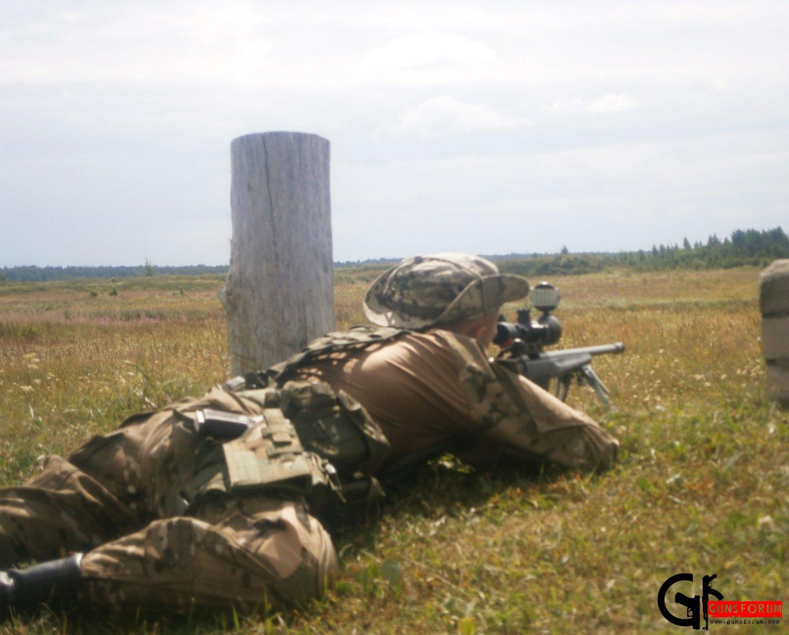 Выполнение упражнения стрельб (дистанция 600 м) из винтовки Steyr-Mannlicher SSG 04A1 (Австрия) на профильных соревнованиях
