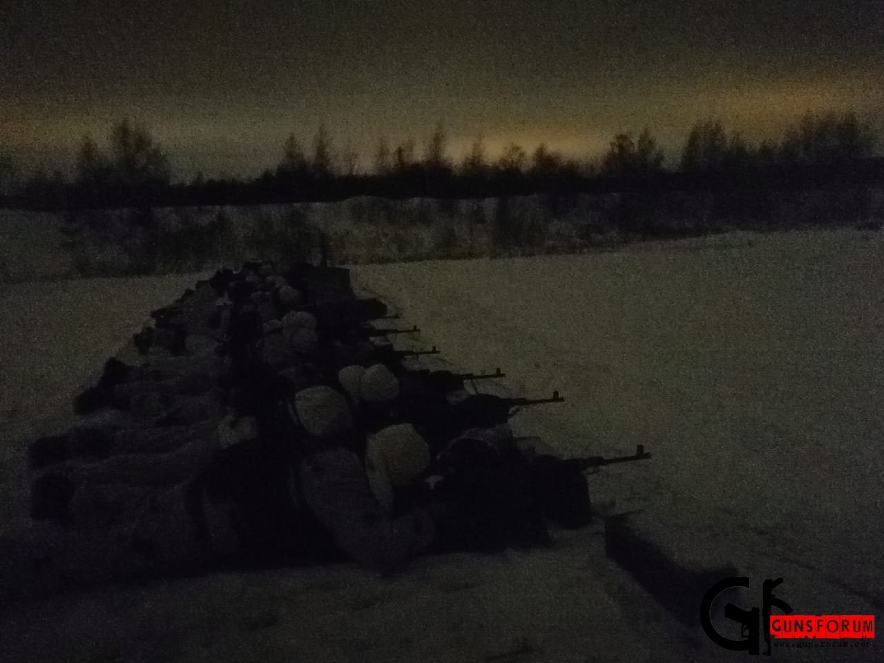 Плановые занятия по огневой подготовке со снайперами одного из подразделений МО РФ