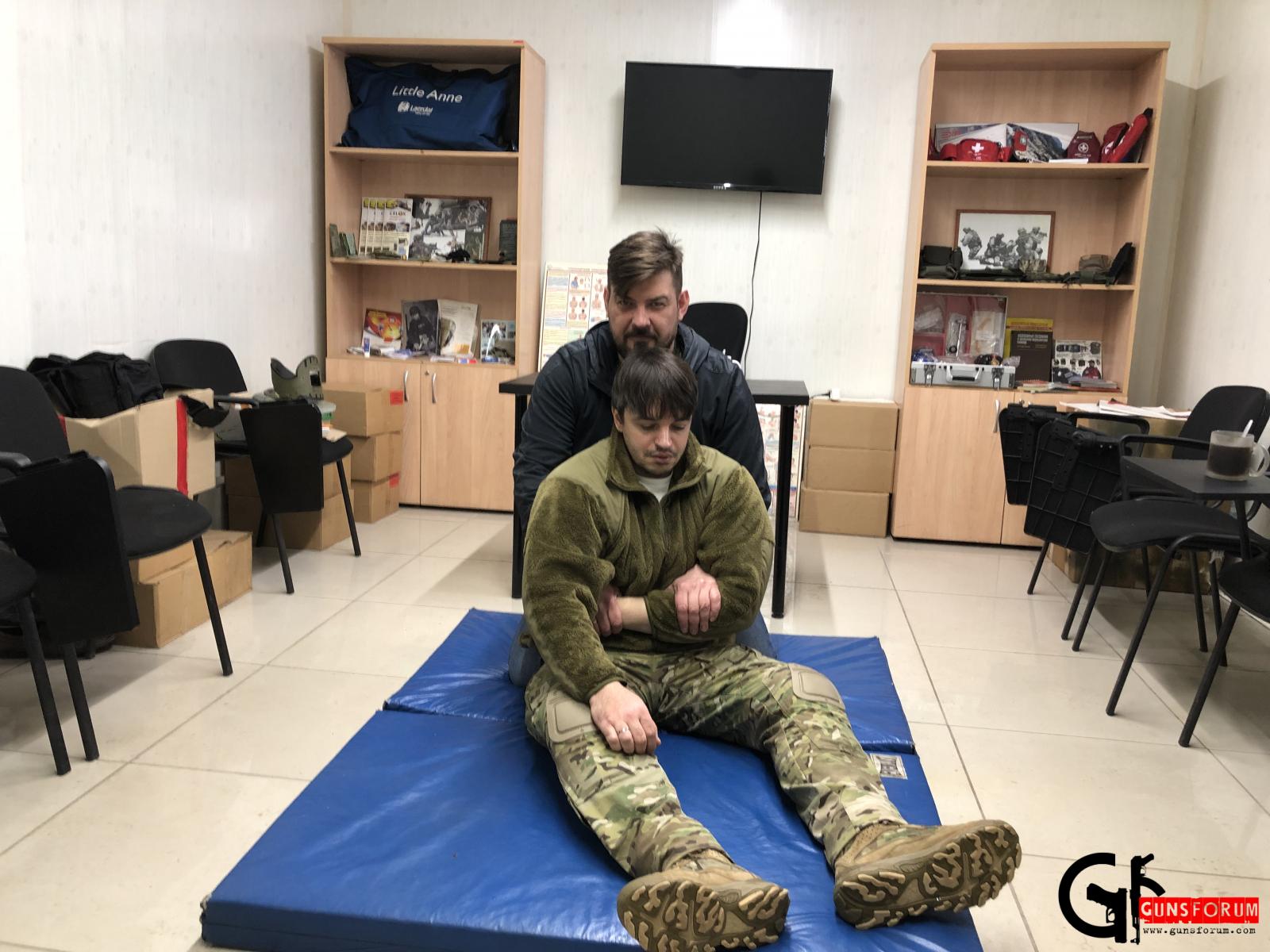 Отработка транспортировки раненного
