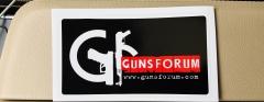 Наклейка Gunsforum на черной основе