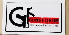 Наклейка Gunsforum на прозрачной основе