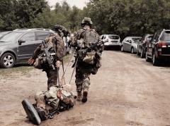 Эвакуация раненного с поле боя