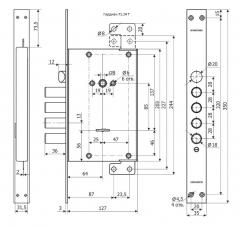 Замок Гардиан 71.14 Т - схема