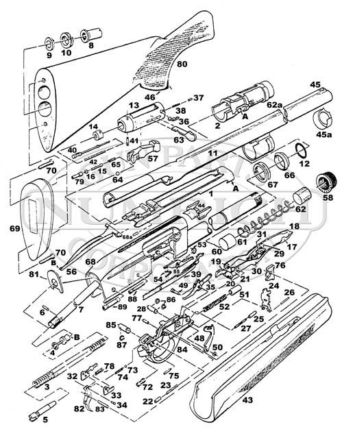 K98 Parts Schematic