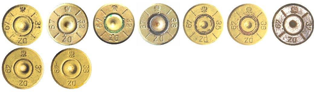 20 Маркировка на гильзах патронов 7,92х57мм Польша>